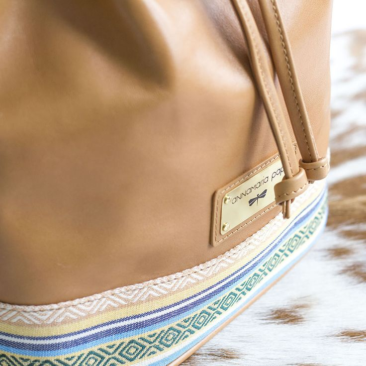 Bucket leather bag by Annamaria Pap