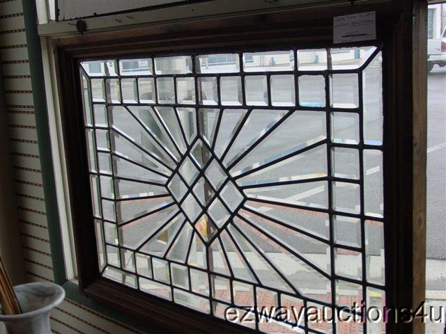 Antique Beveled Leaded Gl Window Diamond Center Sunburst Stained Inspiration Pinterest And