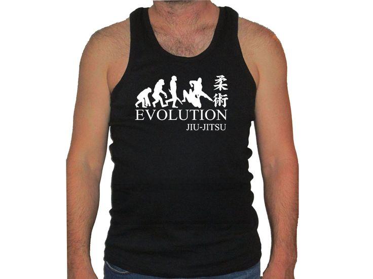 Jiu jitsu Evolution w Kanji writing MMA black muscle man sleeveless tank top S/M/L/XL/2XL/3XL by mycooltshirt on Etsy