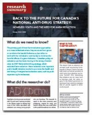 Back to the Future for Canada's National Anti-Drug Strategy: Homeless Youth and the Need for Harm Reduction - Homeless Hub Research Summary Series  http://homelesshub.ca/resource/back-future-canada%E2%80%99s-national-anti-drug-strategy-homeless-youth-and-need-harm-reduction#sthash.XU5i1Cz3.dpuf