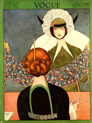 Fall 1913 Vogue cover illustration by George Wolfe Plank