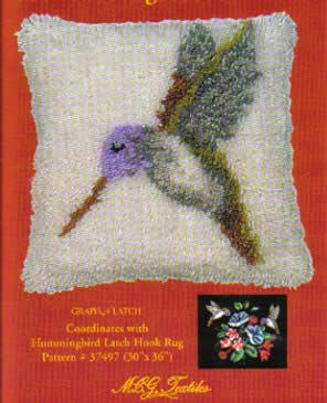 Latch Hook Hummingbird Pillow, Free Pattern