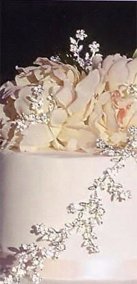 Accessorize your wedding cake with this lovely cake jewelry. This elegant cake topper is fashioned with delicate silver detailing and emblazoned with gorgeous multi-faceted Swarovski crystals and sparkling rhinestones that shine from every angle.  Clear/silver.