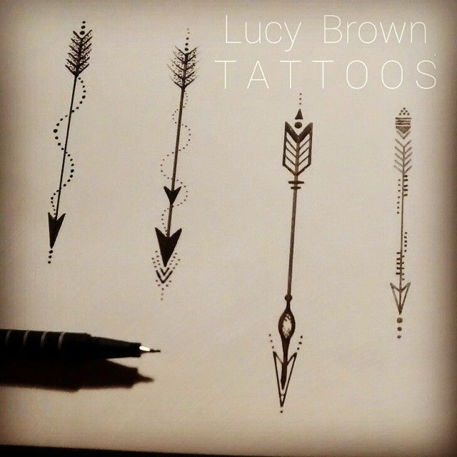 Lucy Brown's Viking Arrow Tattoos