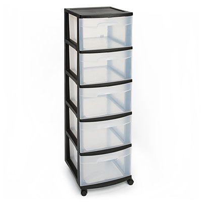 Sterilite 5 drawer plastic storage cart at big lots for Plastic craft storage drawers
