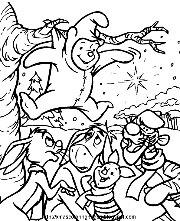 Site With Hundreds Of Free Printable Xmas Coloring Pages Here Including A Whole Section