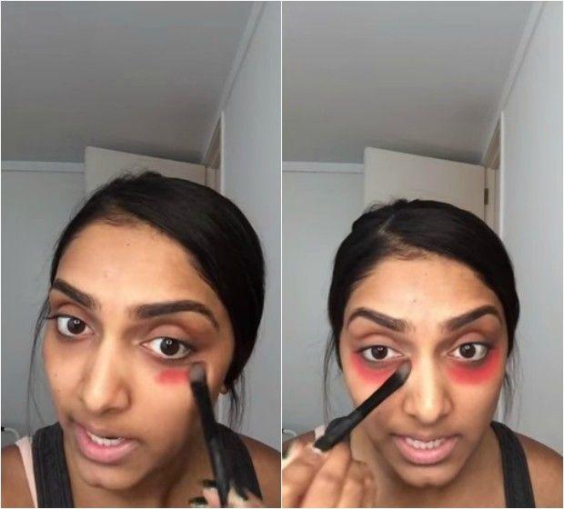 Seu batom vermelho pode servir também para cobrir as olheiras; aprenda a fazer