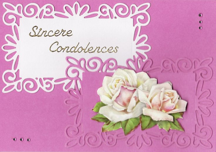 3D roses 'Sincere Condolences' Card (by Tassie Scrapangel)