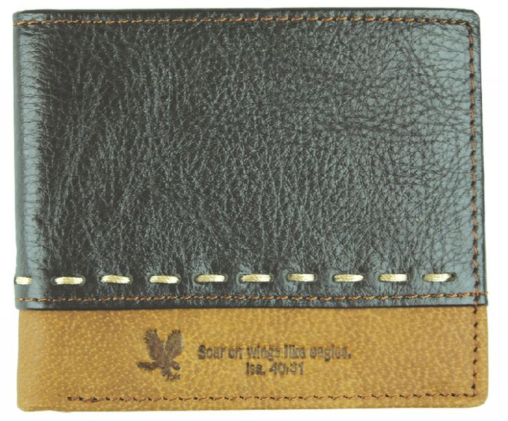 Wallet: Genuine Leather Two Tone Isa. 40:31