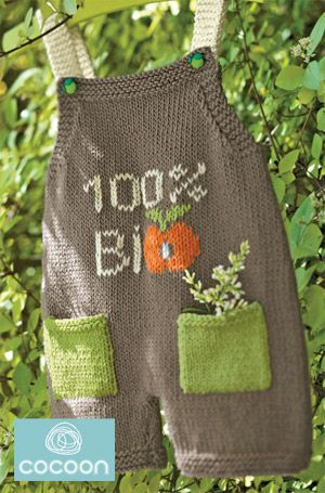 These knit dungarees are just the thing for your future botanist. Pattern by Let's Knit.