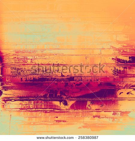 Abstract grunge background with retro design elements and different color patterns: yellow (beige); purple (violet); pink; cyan