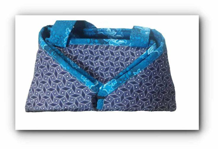 2-in-1 Indigo Shweshwe & floral Blue Shweshwe Ironing caddy /ironing mat by gogothabo on Etsy