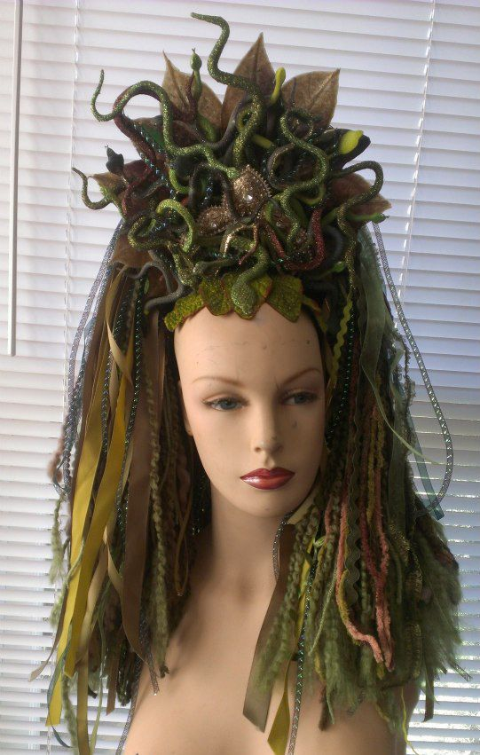 Curly Hair Costume Ideas : Medusa headdress ? dreadful falls usa via facebook
