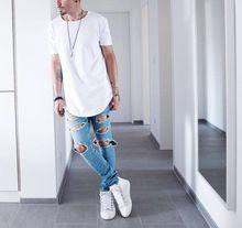 Hommes d'été À Manches Courtes Hanche Prolongée Hop t-shirt Surdimensionné Tyga Kpop Butin Vêtements Hommes de Casual Yeezus Streetwear Camisetas(China (Mainland))