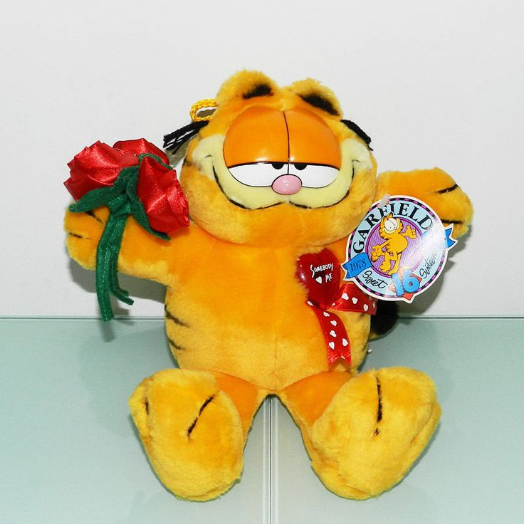 Roses Valentine S Day With Stuff Toys : Best garfield valentine images on pinterest plush