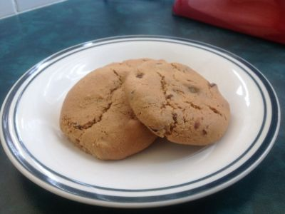Gluten Free Peanut Butter Choc Chip Biscuits