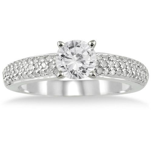 Spectacular IGI Certified Carat Diamond Engagement in White Gold I J Color Clarity Women us Size