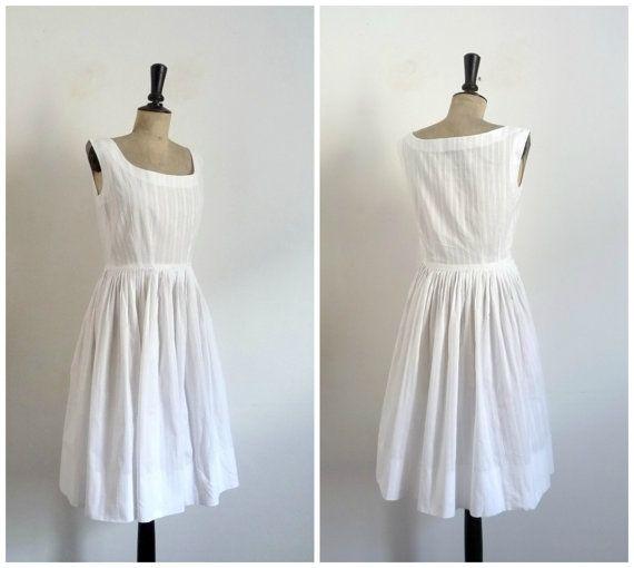 Vintage Années 50 Robe de Jour D'été en Coton par CeliaVintageStars