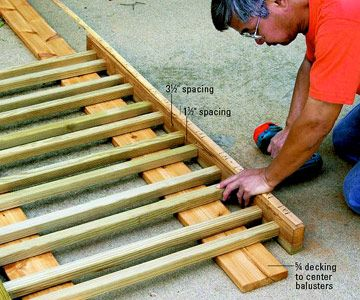 diy porch railing | ... Railing - Multi Level Decks - How to Design & Build a Deck. DIY Advice