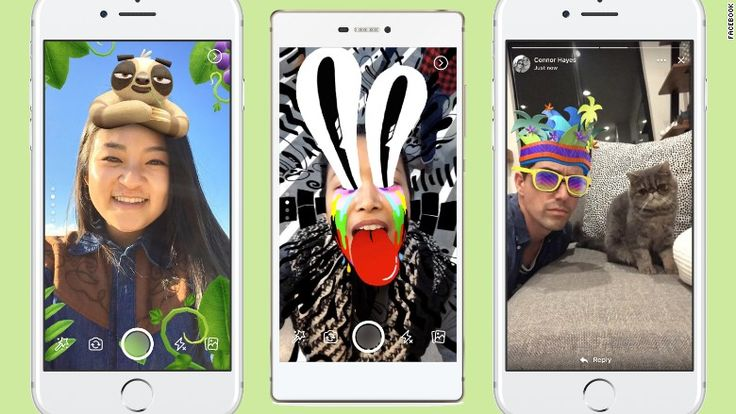 Facebook is bringing glitter beards and cartoon sloth hats to the phone, an important business endeavor it takes very seriously.  Starting Tuesday, Facebook (FB, Tech30) users around the world will be able to use the company's latest Snapchat-like features: an effects-filled camera,... http://usa.swengen.com/facebooks-transformation-into-snapchat-is-almost-complete/