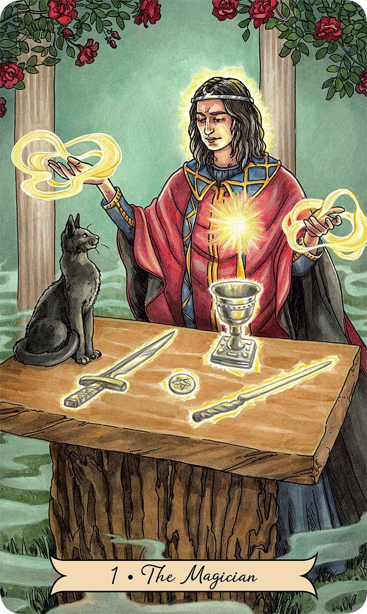 Everyday Witch Tarot: Deborah Blake, Elisabeth Alba: 9780738746340: Amazon.com: Books #tarotdeck #tarotcards #tarot #halloweek The Magician