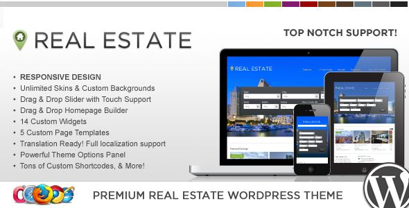 WP Pro Real Estate 4 Responsive WordPress Theme - ThemeForest Item for Sale
