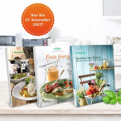 Kochbücher für den Thermomix ® TM31 gibt es jetzt bis zum 17.11.2017 mit 31% Rabatt im Thermomix ® Online Shop. Hier sichern Sie sich das Angebot.