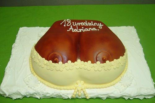 Tort dla młodego playboya który kończy osiemnaście lat