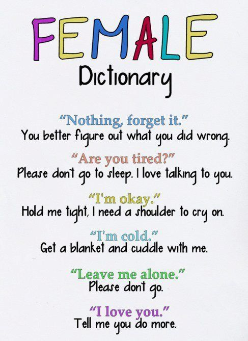 """So true :) For me it's especially the """"I'm okay"""" and """"I love you."""""""