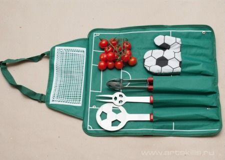 Именной набор для барбекю Футбол - фото