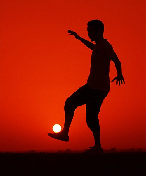 soccer with the sun