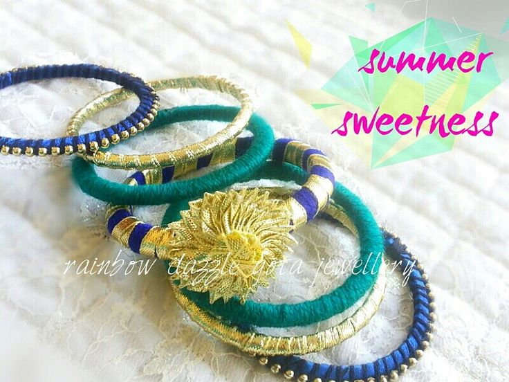 Summer '16 collection  Handmade jewellery| jewelry   For more designs, like my facebook page  Rainbow Dazzle Gota Jewellery  https://www.facebook.com/pages/Rainbow-Dazzle/461994940500930