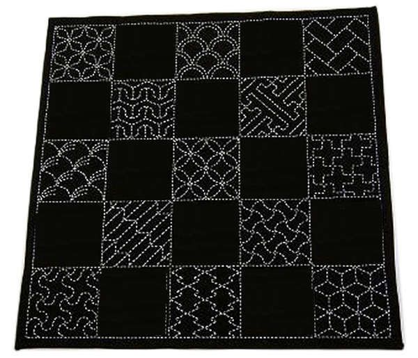 Sashiko Traditional Multi-Design Sampler - Navy
