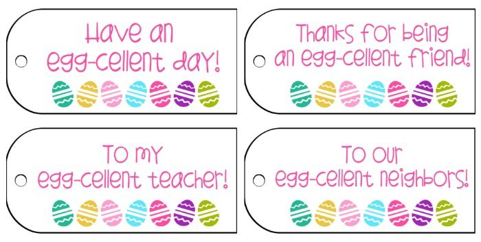 Free Printable Easter Gift Tags for Teachers