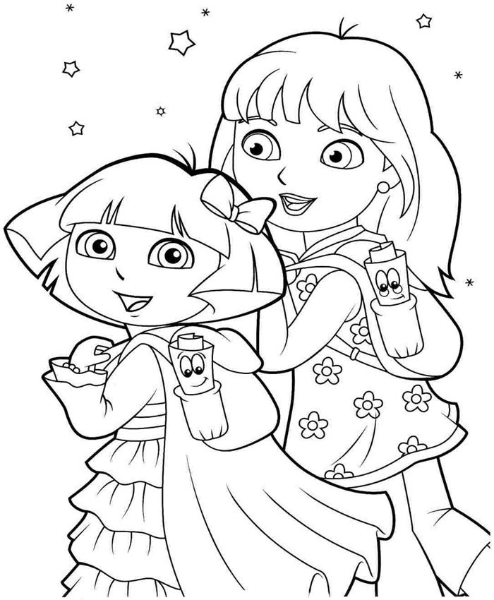 Dora Coloring Page Coloring Pages Kids Coloring Books Coloring Book Pages