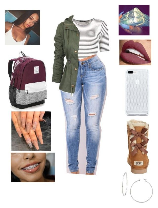 """Untitled #494"" by yagirlnini on Polyvore featuring Boohoo, UGG Australia and Victoria's Secret"
