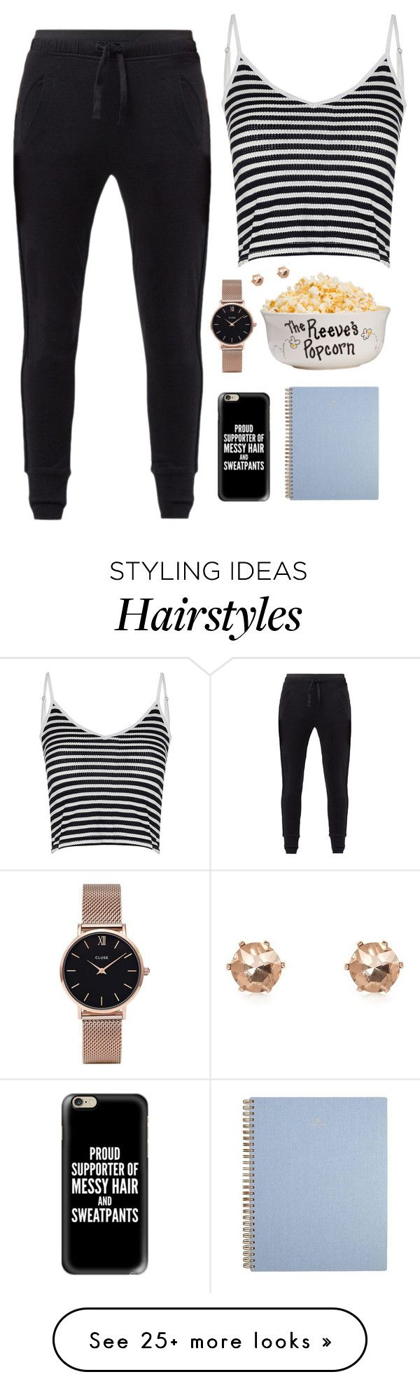 """""""Proud supporter of messy hair and sweatpants"""" by dipske on Polyvore featuring MANGO, Casetify, Glamorous, CLUSE and River Island"""