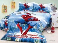 Spiderman bedding set twin size 3d cartoon print boy teens duvet cover 3 pieces American style bed linens children gift sheets