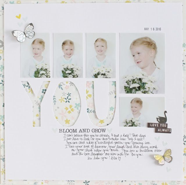 Colours of B: layout 12x12 YOU bloom and grow