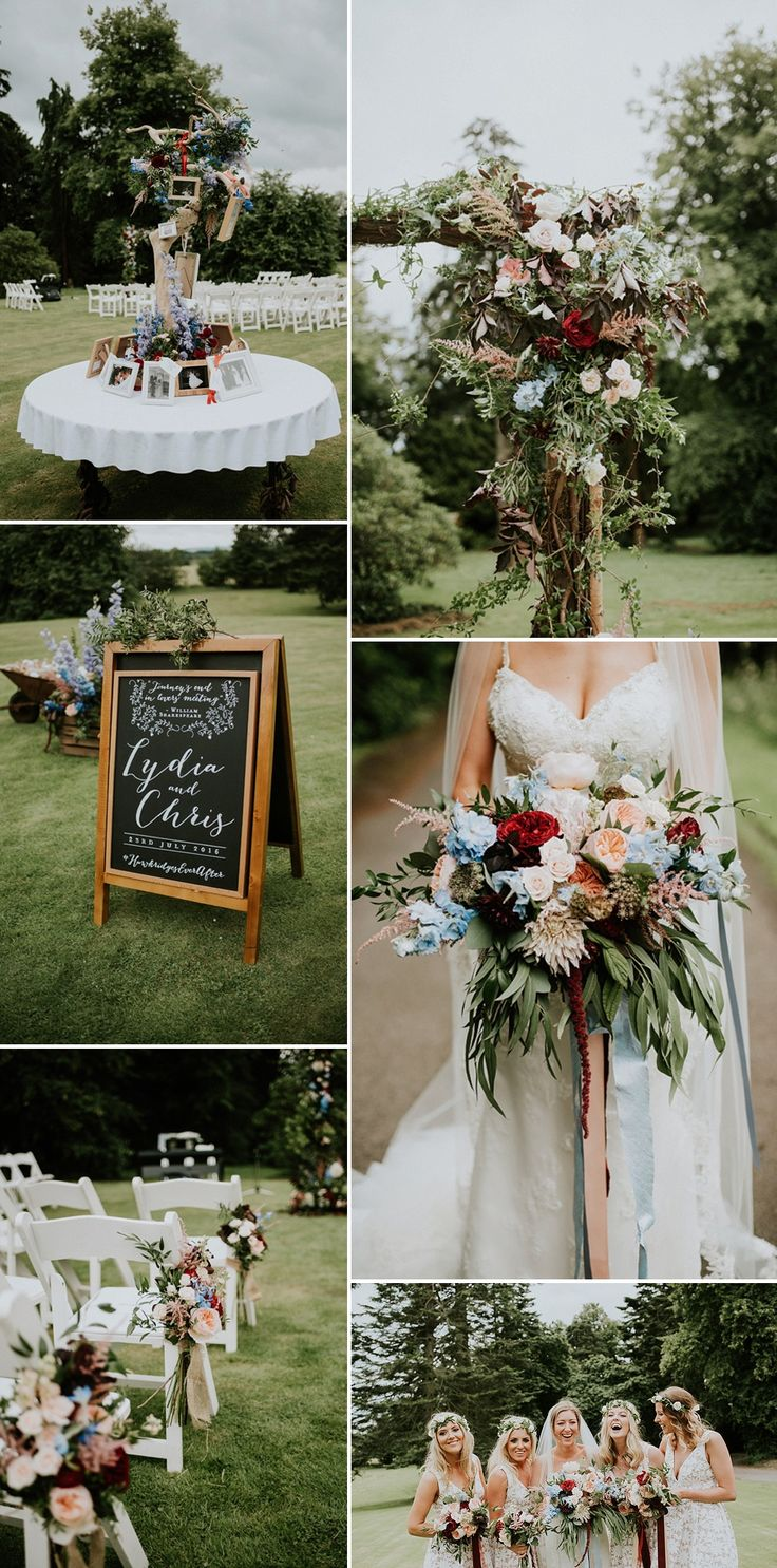 149 best floral arches images on pinterest weddings flower rustic outdoor wedding with beautiful flowers junglespirit Gallery