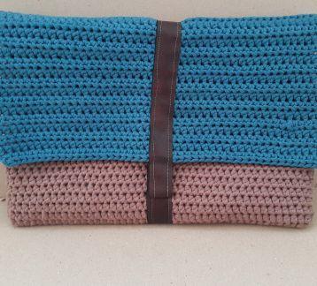 Mavi Clutch El Çantası