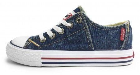 Levis Red Tab Lace Blue Denim Canvas Shoes