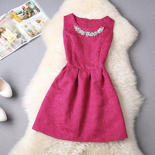 2014 új alkalmi ruha divat Jacquard Mini kényelmes ruha tavaszi-nyári Márka elegáns női ruha nyomtatás porcelán dombornyomás ruhák-tól inDresses Ruházat és kiegészítők a Aliexpress.com | Alibaba Group