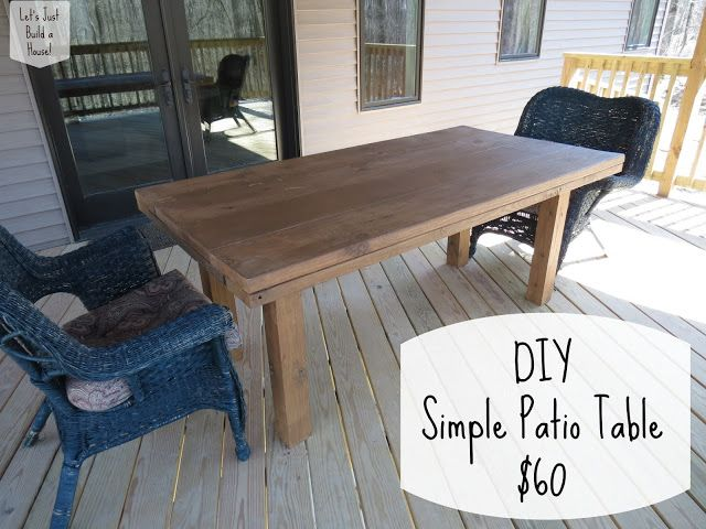 DIY Simple Patio Table Tutorial110 Best Patio Table Plans Images On  Pinterest