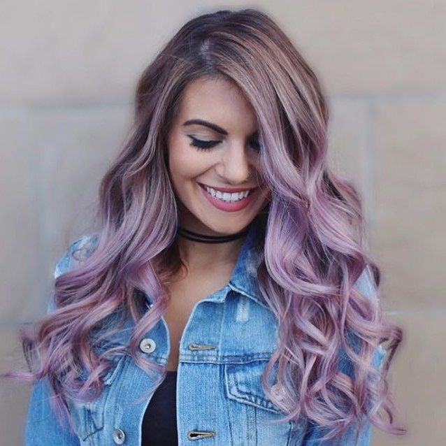silver purple hair