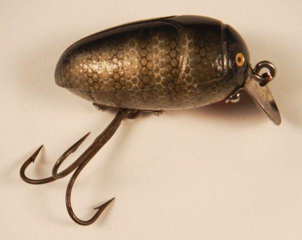 Vintage Millsite rattle bug plastic lure.