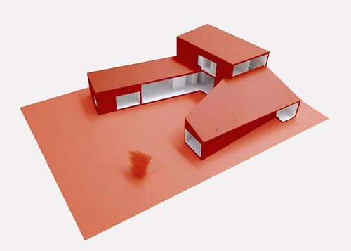 © hataarvo architects - courtyard house - taichung, taiwan - 2012, architectural model, modelo, maquette