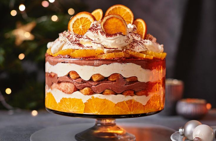 Chocolate orange tiramisu trifle recipe in 2020 trifle