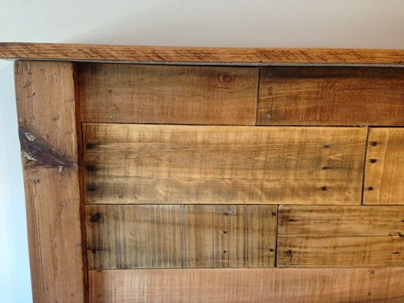 reclaimed king size headboard by on etsy