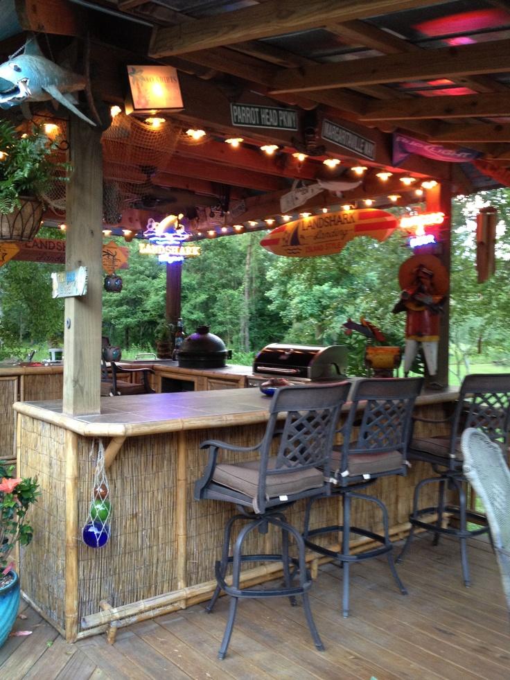Backyard - Tiki idea for the deck, love a beach themed ... on Outdoor Bar Patio Ideas id=94237